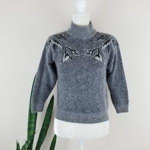 VTG 80's Silk-Angora Cropped Sweater